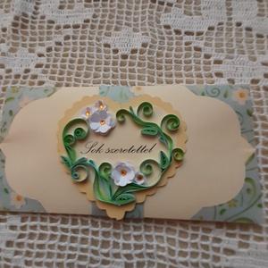 Pénzátadó boríték, Boríték, Papír írószer, Otthon & Lakás, Papírművészet, Születésnapra, névnapra, esküvőre, évfordulóra vagy bármilyen alkalomra megfelelő boríték, melynek m..., Meska