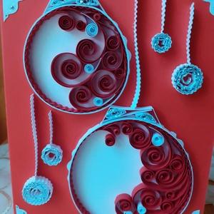 Karácsonyi képeslap, Otthon & Lakás, Karácsony & Mikulás, Karácsonyi képeslap, Papírművészet, Belseje nyitható. Szöveg írható bele. Egyedi ajándék vagy ajándékkísérő. Mérete: 10 x 15 cm...., Meska