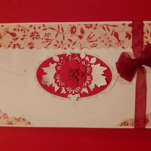 Alkalomra, Nőnapra, Valentinnapra boríték, Otthon & Lakás, Papír írószer, Boríték, Papírművészet, A boríték mérete: 16 x 9 cm. Nemcsak papírpénz, de vásárlási utalvány is rakható bele, vagy kisebb a..., Meska