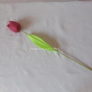 Textil tulipán (Nagy), Csokor & Virágdísz, Dekoráció, Otthon & Lakás, Varrás, 46 cm magas textil tulipán, amely kedves ajándék lehet bármilyen alakalomra. \n\nVirága pamutvászonból..., Meska