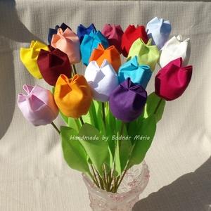 Textil tulipán (Nagy, 20 db) (MariaBodnar) - Meska.hu