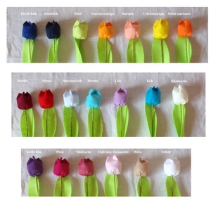 Textil tulipán (12 db, baba-kék) (MariaBodnar) - Meska.hu