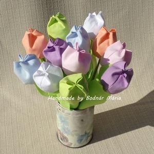 Textil tulipán (12 db, 6 szín, pasztell színek), Csokor & Virágdísz, Dekoráció, Otthon & Lakás, Varrás, 24 cm magas textil tulipánok, amelyek hosszú ideig hangulatos díszei lehetnek bármely otthonnak.\n\nVi..., Meska