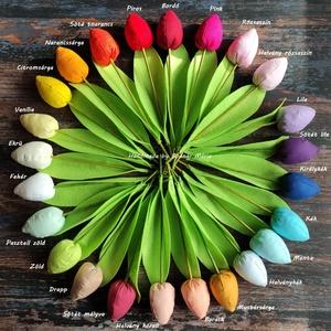 Textil tulipán, bimbós ( 24 db) - Meska.hu