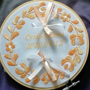 Gyürütartó, Esküvő, Gyűrűtartó & Gyűrűpárna, Kiegészítők, Hímzés, Meska