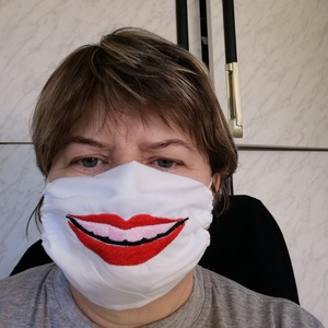 Hímzett maszk  - Meska.hu