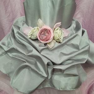 Fodros romantika koszorúslány ruha, Ruha & Divat, Babaruha & Gyerekruha, Ruha, Varrás, Saját készítésű pici habosbabos kislány koszorúslány ruha, ezüst és rózsaszín színek kombinációjában..., Meska