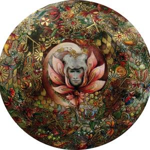 Vágykeltő mandala hölgyeknek a partnerkapcsolati harmóniáért, Képzőművészet, Otthon & lakás, Festmény, Festmény vegyes technika, Akvarell, Festészet, Vágykeltő mandala hölgyeknek a partnerkapcsolati harmóniáért\nMérete: 19,5x19,5 cm\nVegyestechnika, bo..., Meska