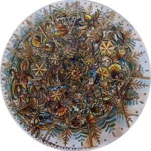 Hunagram szeretet-egység mandala, a családi harmóniáértrt, Képzőművészet, Otthon & lakás, Festmény, Dekoráció, Kép, Festészet, Magyar szeretet-egység mandala, a családi harmóniáért\nMandala mérete 15x15 cm\n7,5 cm-es pasztell kré..., Meska