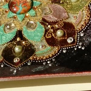 Fali térharmonizáló mandala, Otthon & Lakás, Dekoráció, Falra akasztható dekor, Festett tárgyak, A mandala erőtér: a benne lévő motívumok, Jel-Képek és színek a saját frekvenciájukon képesek a tere..., Meska