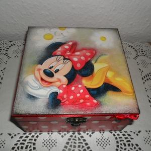 Minnie egeres, rekeszes tárolódoboz lányoknak! (MaricaPortekai1) - Meska.hu