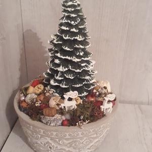 Téli asztaldísz!, Karácsony, Karácsonyi dekoráció, Otthon & lakás, Dekoráció, Ünnepi dekoráció, Lakberendezés, Asztaldísz, Mindenmás, Virágkötés, A képen látható téli asztaldísz tökéletes dekoráció az ünnepi asztalon.\nKerámiaalapba épített száraz..., Meska