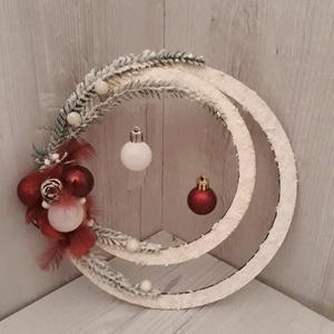 Különleges ajtódísz!, Karácsony, Karácsonyi dekoráció, Otthon & lakás, Lakberendezés, Ajtódísz, kopogtató, Virágkötés, A képen látható különleges ajtódísz, tökéletes lakásdekoráció, vagy karácsonyi ajándék lehet.\nMérete..., Meska