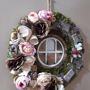 Különleges, tavaszi ajtódísz!, Otthon & Lakás, Ajtódísz & Kopogtató, Dekoráció, A képen látható kis szépség igazi gyöngyszeme lehet az otthonodnak, akár ajtóra, akár falra függeszt..., Meska