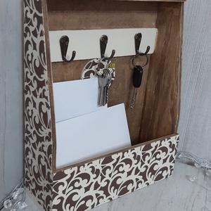 Falra aasztható kulcs, és levéltartó, kőhatású 3D mintával! Igazi különlegesség, laksádekoráció!, Kulcstartó szekrény, Bútor, Otthon & Lakás, Decoupage, transzfer és szalvétatechnika, Te is mindig az asztalon pakolgatod a számlákat, kulcsokat? Én igen! :)\nMost viszont hoztam neked eg..., Meska