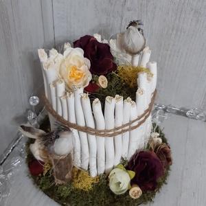 Különleges tavaszi asztaldísz!, Otthon & Lakás, Dekoráció, Asztaldísz, Virágkötés, A képen látható cukiság akár a Te lakásod dísze is lehet! :)\nSzínes, vidám, igazi kis tavaszi hangul..., Meska