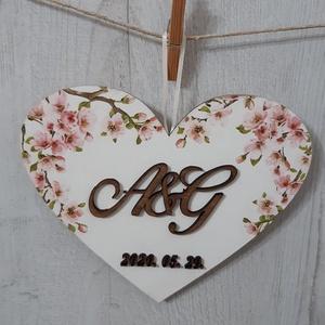 Különleges ajándék esküvőre, eljegyzésre!, Helyszíni dekor, Dekoráció, Esküvő, Decoupage, transzfer és szalvétatechnika, Egyedi, személyre szabott esküvői ajándék! \nEzzel az ajándékkal biztosan boldoggá teszed az ifjú pár..., Meska