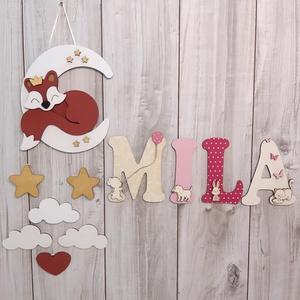 ÚJDONSÁG!!! Tündéri babaszoba dekoráció, kisfiúknak, és kislányoknak egyaránt, róka figurával., Játék & Gyerek, Plüssállat & Játékfigura, A baba/gyerekszobába készült neveket nagyon szeretitek, ezért gondoltunk egyet, és bővítettünk a kín..., Meska
