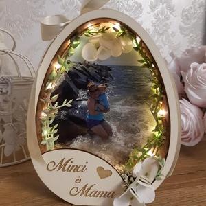 ÚJDONSÁG! Anyák napi ajándék! Tavaszi asztaldísz, dekoráció., Otthon & Lakás, Dekoráció, Dísztárgy, Famegmunkálás, Virágkötés, Meska