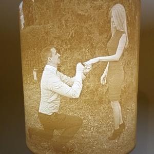 Egyedi lithophane lámpa , Otthon, lakberendezés, Szerelmeseknek, Lámpa, Hangulatlámpa, Mindenmás, A saját képed alapján készítjük el egyedi lámpádat. A lithophane (magyarul litofán) eredetileg egy ..., Meska