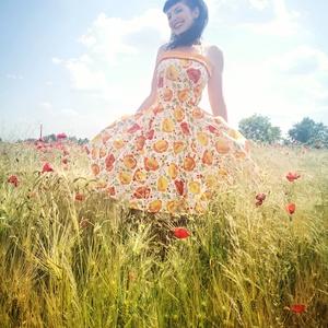 Pinup Rockabilly ruha Kaliforniai pipacs mintás, virágos, Ruha & Divat, Női ruha, Ruha, Varrás, Pipacs mintás rockabilly, pinup ruha.  Kevertszalas  vászon.\nAlsószoknya nélkül.\nElérhető xs-3xl mér..., Meska