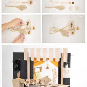 marti - role play set Nr.1. (szerepjáték szett) + tematikus készlet - virágbolt, narancssárga - bézs - virágos (martismart) - Meska.hu