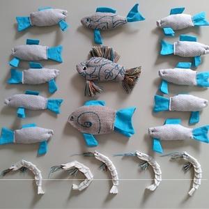 marti - role play set Nr.1. tematikus készlet - halpiac, türkizkék - bézs - pöttyös (szerepjáték szett) , Gyerek & játék, Játék, Fajáték, Készségfejlesztő játék, Famegmunkálás, Varrás, A role play set Nr.l. (szerepjáték szett) kiegészítő tematikus játékkészklet - halpiac  általános tu..., Meska