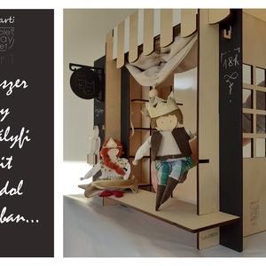 marti - role play set Nr.1. (szerepjáték szett)  tematikus készlet - királyfi-királylány báb pár, Gyerek & játék, Játék, Báb, Fajáték, Készségfejlesztő játék, Famegmunkálás, Varrás, Királyfi és királylány bábpár - 2 db öltöztethető bábfigura\nEgy gyerek, két kéz, ennyi elég is, a mi..., Meska
