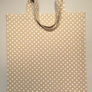 Retro pöttyös bevásárló táska - több színben (marvika) - Meska.hu