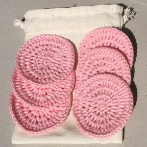 Újrahasználható/mosható arctisztító korong - világos rózsaszín, Táska, Divat & Szépség, Szépség(ápolás), Kozmetikum, NoWaste, Horgolás, Óvjuk a környezetünket, legyen kevesebb a szemét, mind ezek mellett még spóroljunk is. Ezek az újra ..., Meska