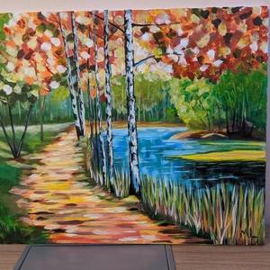 Parton, Művészet, Festmény, Akril, Festészet, Leonid Alfremov ihlette part festményem\n50*60 cm feszített vászon.\nJó minőségű akril festékkel dolgo..., Meska