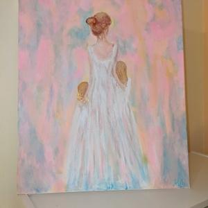 Anya, Művészet, Festmény, Akril, Festészet, A következő fesményt kislányaimnak festettem. Hasonló festmény rendelhető. Más színekkel, vagy lehet..., Meska