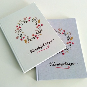 esküvői vendégkönyv/jegyzetfüzet/fotóalbum , Vendégkönyv, Emlék & Ajándék, Esküvő, Fotó, grafika, rajz, illusztráció, Könyvkötés, Csodaszép esküvői vendégkönyv a legszebb pillanatok megörökítésére.\n\nHasználhatod naplóként, jegyzet..., Meska