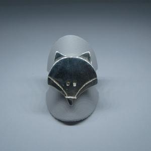 Rókás gyűrű nagy, Figurális gyűrű, Gyűrű, Ékszer, Ékszerkészítés, Ötvös, Ezüstből készült nagy méretű rókás gyűrű. A róka koma méretei: 19×22mm. Fémjelzett ékszer...., Meska