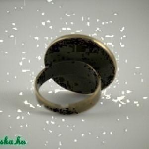 Világos türkiz kerek tűzzománc gyűrű ezüst színű foglalatban (MatisZomanc) - Meska.hu