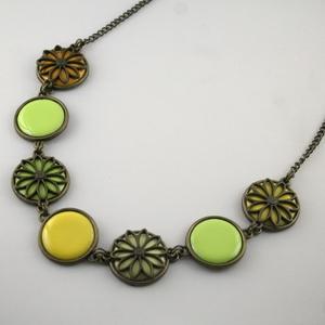 Dandelion Wreath - tűzzománc nyaklánc (MatisZomanc) - Meska.hu