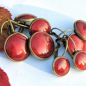 Rubin vörös áttetsző tűzzománc francia kapcsos fülbevaló (MatisZomanc) - Meska.hu
