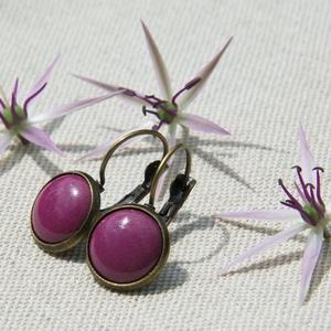 Padlizsán lila tűzzománc francia kapcsos fülbevaló (MatisZomanc) - Meska.hu
