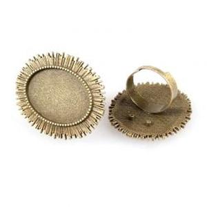 Ovális gyűrű alap antik réz / bronz színű, Gyöngy, ékszerkellék, Egyéb alkatrész, Ékszerkészítés, Szerelékek, Antiallergén, nikkelmentes fémötvözetből készült ékszerkészítési alapanyag, alkatrész.\n\nAntik bronz/..., Meska