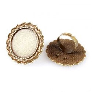 Kerek gyűrű alap antik réz / bronz színű, Gyöngy, ékszerkellék, Egyéb alkatrész, Ékszerkészítés, Szerelékek, Antiallergén, nikkelmentes fémötvözetből készült ékszerkészítési alapanyag, alkatrész.\n\nAntik bronz/..., Meska