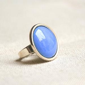 Harangvirág kék kerek tűzzománc gyűrű , Szoliter gyűrű, Gyűrű, Ékszer, Ékszerkészítés, Tűzzománc, Ez a harangvirág kék (bluebell, világos kék) kerek tűzzománc gyűrű antik ezüst színű foglalatban a n..., Meska
