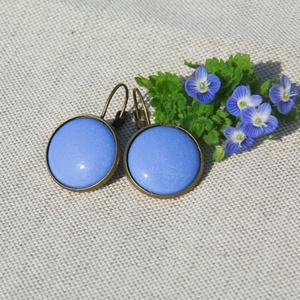 Harangvirág kék tűzzománc francia kapcsos fülbevaló, Ékszer, Fülbevaló, Ékszerkészítés, Tűzzománc, Ez a harangvirág kék kék (bluebell, világos kék) tűzzománc francia kapcsos fülbevaló antik réz/bronz..., Meska