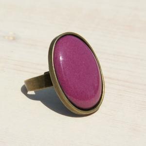 Padlizsán lila ovális tűzzománc gyűrű (MatisZomanc) - Meska.hu