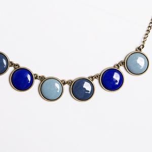 Evening Dove bronze - tűzzománc nyaklánc kékes-szürkés színekben, Medálos nyaklánc, Nyaklánc, Ékszer, Ékszerkészítés, Tűzzománc, Esőfelhők? Közelgő vihar? Vagy a tenger kékje? Szürkés-kékes színekben készült ez a nyaklánc, ezútta..., Meska