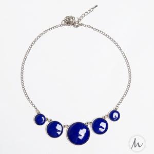 Midnight Blue - sötétkék tűzzománc nyaklánc - Meska.hu