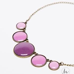 Do you lilac me? - lila tűzzománc nyaklánc, Ékszer, Medálos nyaklánc, Nyaklánc, Ékszerkészítés, Tűzzománc, Meska