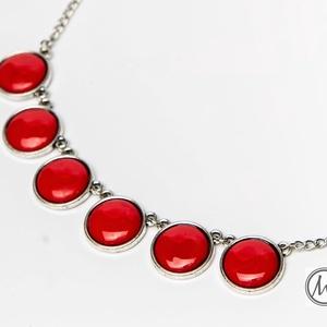 Csipkebogyó mini - piros tűzzománc nyaklánc, Ékszer, Medálos nyaklánc, Nyaklánc, Ékszerkészítés, Tűzzománc, Gyönyörű, szenvedélyes élénk, telt piros színű tűzzománc nyaklánc antik ezüst színű foglalatban, ez..., Meska