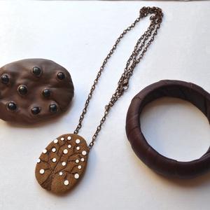 Csokoládé-Akciós ékszercsomag bőrből (Matra) - Meska.hu
