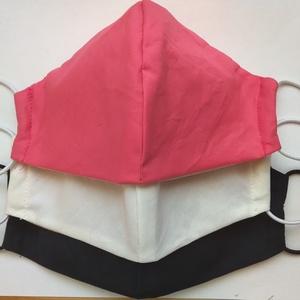egyszínű SZÁJMASZK pack, Ruha & Divat, Férfi & Uniszex, Maszk, Arcmaszk, A maszkok kétrétegűek, kívül egyszínű, pamutos textília, belül a klasszikusan maszkokban használatos..., Meska
