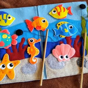 Készségfejlesztő horgász játék, Készségfejlesztő & Logikai játék, Játék & Gyerek, Varrás, Teljes egészében kézzel készítettem ezt a készségfejlesztő játékot. Minden öltést kézzel végeztem, í..., Meska